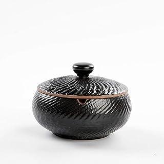 ZHAS Posacenere Creativo Retrò Personalizzato Parlor Office Grande Sigaro Eliminatore di Fumo in Ceramica Rivestito (11 * 7.8Cm)