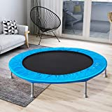 AWQM Trampoline, 45' Silent Mini Trampoline,Fitness Rebounder with Safety Pad,Exercise Bounce,Indoor/Outdoor Workout Max Load 180 lbs