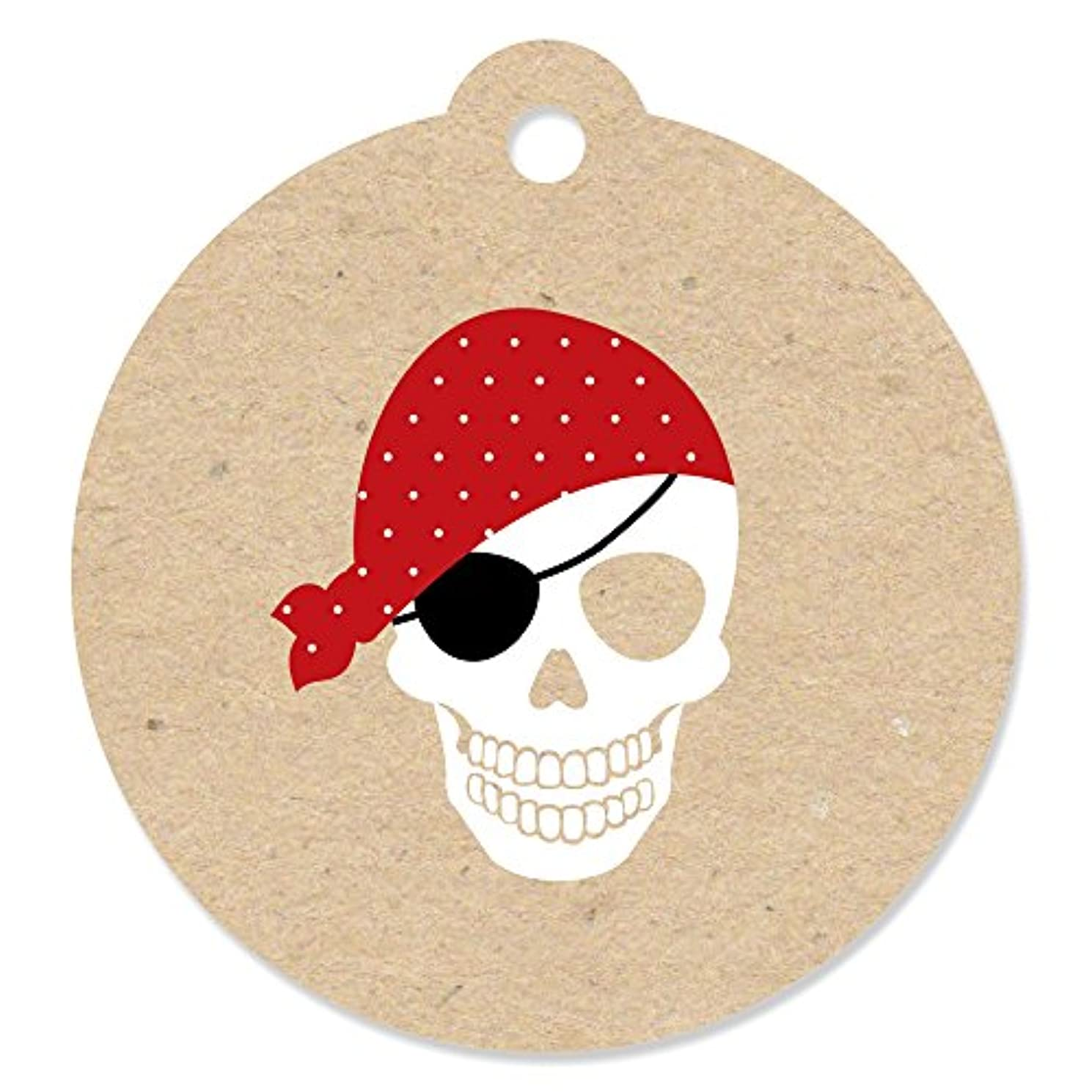 Beware of Pirates - Pirate Birthday Party Favor Gift Tags (Set of 20)