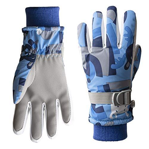 Tofern Kinder Skihandschuhe Snowboard wasserdichte und Winddichte Handschuhe für Outdoor-Sport, Junge und Mädchen Fahrradhandschuhe Warme Handschuhe in Winter