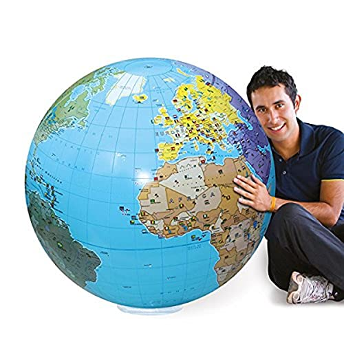 Abysse - 060F - Globe Gonflable Monde - Taille 85 cm