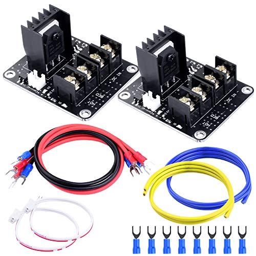 Quimat 2 Stk Power Module MOSFET-Upgrade Tube Erweiterungskarte Hochstrom beheiztes Bett-Leistungsmodul RAMPS 1.4 für 3D Drucker Printer (QY08-2)