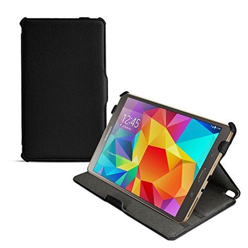 eFabrik Ultra Slim Hülle für Samsung Galaxy Tab S 8.4 Tasche Hülle mit Aufstellfunktion & Auto Sleep/Wake Up Funktion aus hochwertigem Kunstleder, schwarz