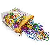 Kavya® 300 piezas de lazos para el cabello multicolores, mi