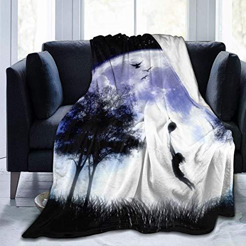 Lsjuee Dreamy World A Earth Manta Franela Mantas de Microfibra Súper Suave Fuzzy Luxury Adecuado para Cama Sofá Viaje Four Seasons Manta 60 x50