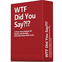 BIGGER & BOLDER THAN THE COMPETITION - WTF Did You Say Stretches the Moral Boundary Unlike Any Other! HUGE SET OF 594 Cards - 108 Red Rule Cards with 486 White Cards THIS IS NOT AN EXPANSION - This is a Full Game Set, That will fulfill Hours of Enter...