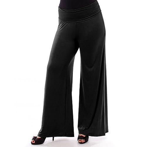 699e8931c7ab7 Popular Womens Plus Size Wide Leg Palazzo and Gaucho Lounge Pants 1X - 6X
