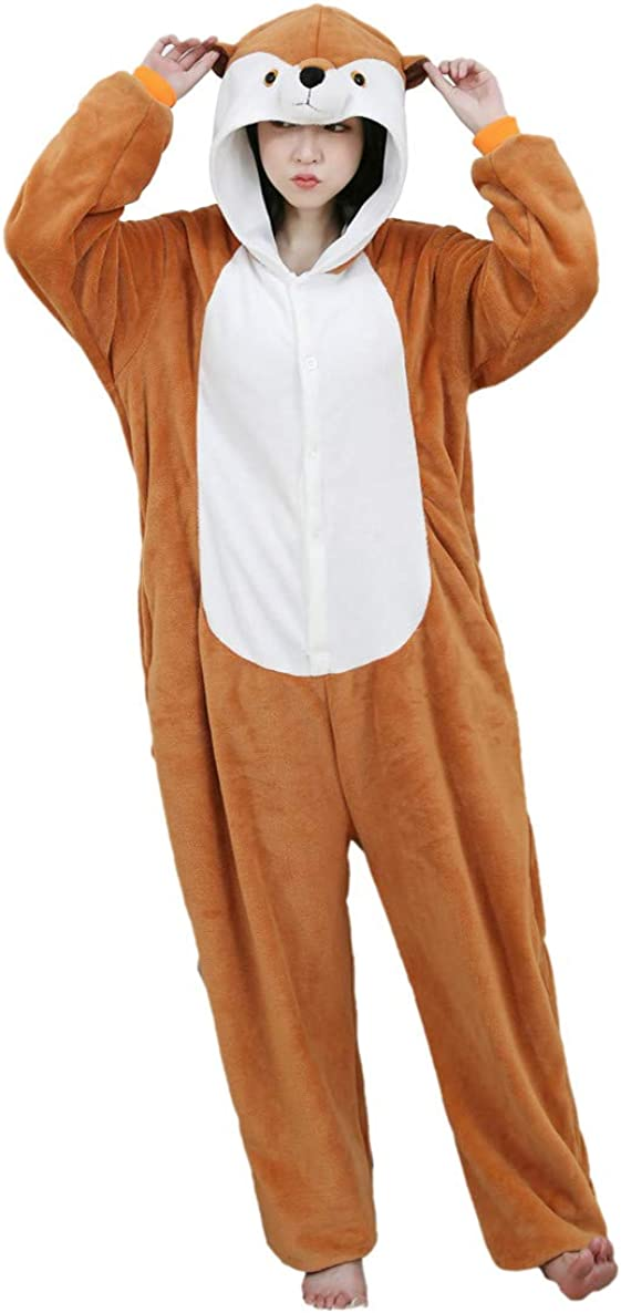 ALOVEY Unisex Animal Cosplay Selling and selling Pyjamas H Max 66% OFF One Hooded Piece Jumpsuit