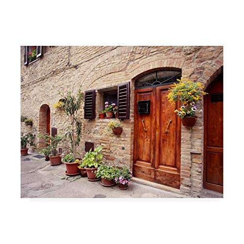 Trademark Fine Art Flowers On The Wall Tuscany Italy Color by Monte Nagler, 18x24