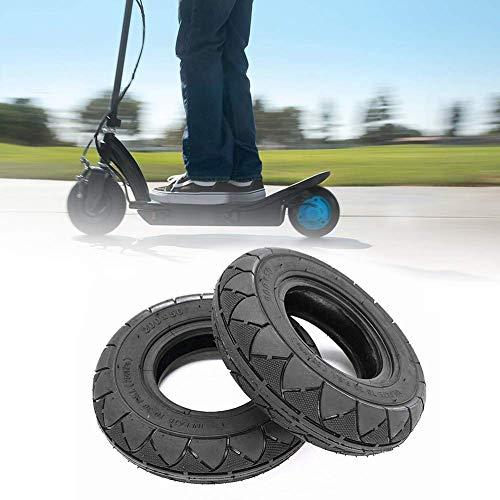 DLILI Neumático sin cámara para Scooter de 8 Pulgadas, Borde de ciclomotor para Motocicleta, Delantero y Trasero (Negro)
