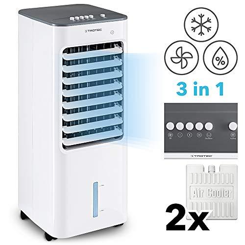 TROTEC PAE 21 Aircooler, mobiles 3 in 1 Klimagerät, Luftkühler, Lufterfrischer, Ventilator (3 Gebläsestufen, leise, Swing-Funktion uvm.)