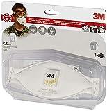 3M xA004837747 Respirador Antipartículas de Plegado Plano, Certificado de seguridad EN