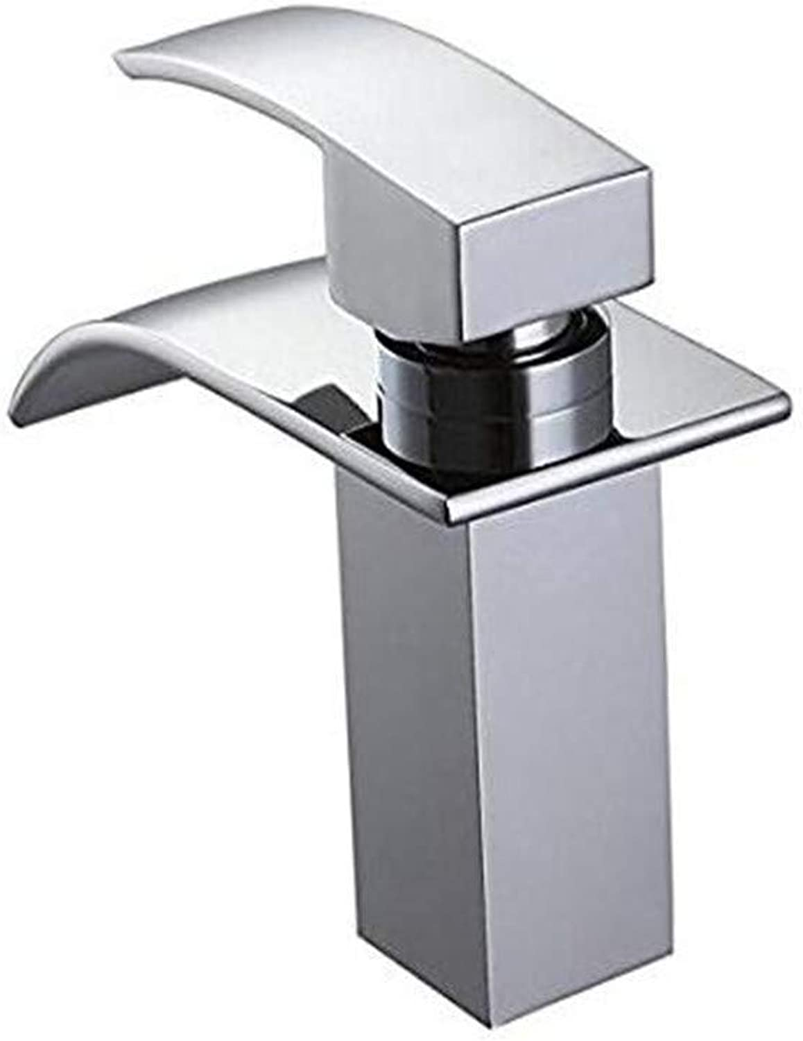 Oudan Faucet Basin Faucet Kitchen Faucetbathroom Sink Tapdeck Mount Waterfall Bathroom Faucet Vanity Vessel Sink Mixer Tap Cold and Hot Water Tap (color   -, Size   -)