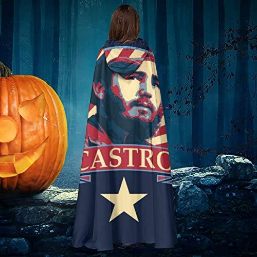 NULLYTG Castro Comunista Propaganda Unisex Navidad Halloween Bruja Caballero con Capucha Bata Vampiros Capa Cosplay Disfraz