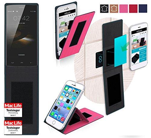 reboon Hülle für HomTom HT7 Tasche Cover Case Bumper | Testsieger | Pink
