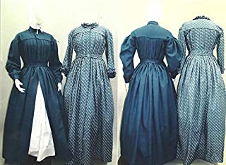Pleated Wrapper Work Dress Morning Gown Maternity Dress Civil War Era Reproduction 1840's-1960's Laughing Moon Sewing Pattern #120 (Pattern Only) Lmm120