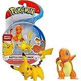 Bandai - Pokémon - Pack de 2 figurines 3-5 cm - Pikachu & Salamèche - WT95033