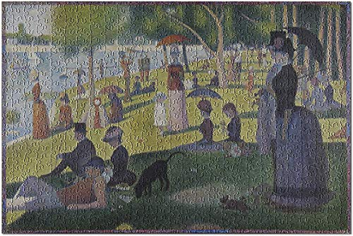 Romance-and-Beauty A Sunday Afternoon Artist: Georges-Pierre Seurat c. Masterpiece Classic Premium 1000 Piece Jigsaw Puzzle for Adults, 19.7 X 29.5 Inch