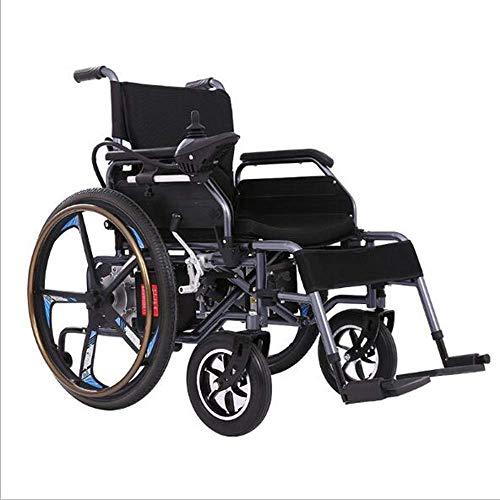 LUOLONG Elektrischer Rollstuhl, modernes Sicherheits-Design, 4-Räder, leicht, zusammenklappbar, langlebig, elektrischer Rollstühle, behinderte ältere Menschen im Freien, rutschfest, bequemer Rollstuhl
