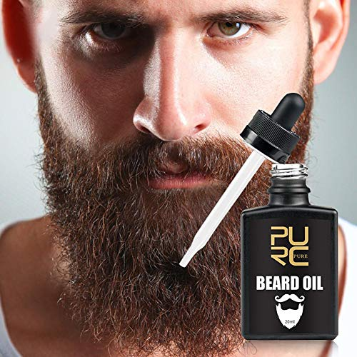 Barba cuidado esencia vegetal puro fórmula para hombres de barba hidratante suave del aceite Oil Care Enhancer facial Nutrición bigote crecer herramienta de conformación Barba Barba productos -20ML