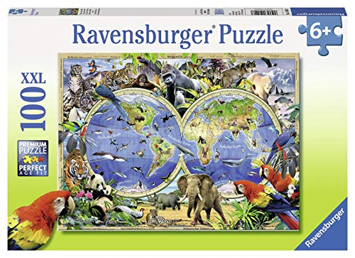 Ravensburger Kinderpuzzle 10540 - Tierisch um die Welt - 100 Teile