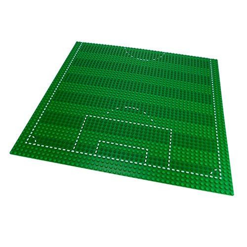1 x Lego System Fußball Bau Platte grün mit Markierung 38 x 38 cm 48 x 48 Noppen Soccer Fußballfeld 4186 p01