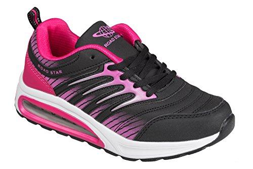 gibra® Sportschuhe, sehr leicht und bequem, schwarz/pink, Gr. 38