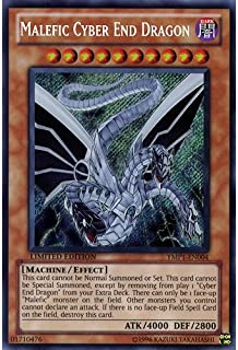 Deckboosters YuGiOh : YMP1-EN004 Limited Ed Malefic Cyber End Dragon Secret Rare Card - ( Movie Pack Yu-Gi-Oh! Single Card)