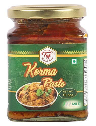 TAJ Gourmet Korma Paste, Spice Curry Paste, 300g (10.5oz)