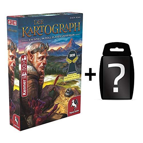 yvolve Der Kartograph - Grundspiel - Brettspiel | DEUTSCH | Set inkl. Kartenspiel