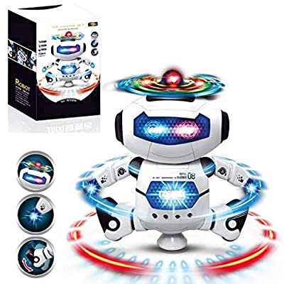 DREAMVAN Electronic Toy Robot Dancing Singing Robot with Musical and Colorful Flashing Lights Robot Toy Gift for Kids, Boys, Girls Education Toys Robotics