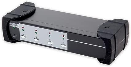 Syba KVM Switch with USB 3.0 4 Port HDMI HD 1080p, 2-Port USB 3.0 Hub and Audio/Mic For PC, Mac, Windows, Linux, Laptops, Desktops, Consoles SY-KVM31036