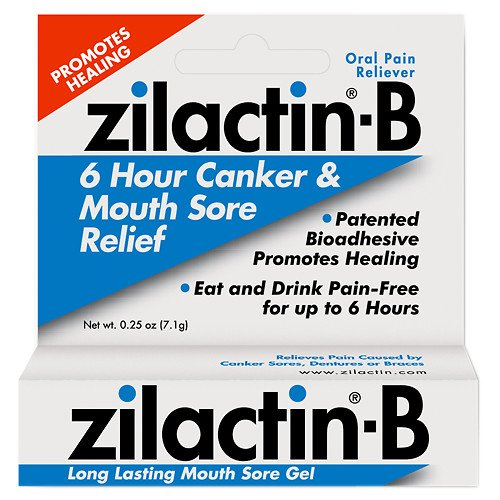 Zilactin-B Mouth Sore Gel 0.25 oz(pack of 2)