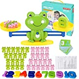 Balance Math Game Frog for Kids 83 Piece Cool Math Toys Learn Counting Numbers Weighing Scale Educational Stem Counting Toys Educational Toy Gift for Boys and Girls 3 4 5 Years Old Age