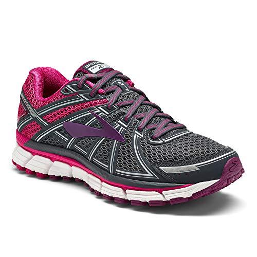 Brooks Defyance 10, Zapatillas de Running para Mujer, Multicolor (Ebony/Pink/Plum 091), 44.5 EU