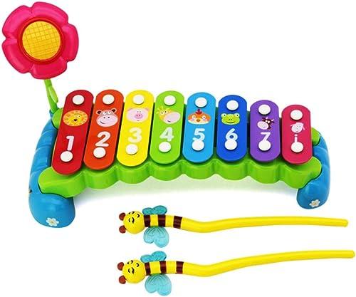 LINGLING-klopfen am klavier Klopfen des Klaviers Acht-Ton-Klavierspielzeug Früherziehung Puzzle 2-3 Jahre Alter Junge mädchen Musik Handschlag (Farbe   Bunte)