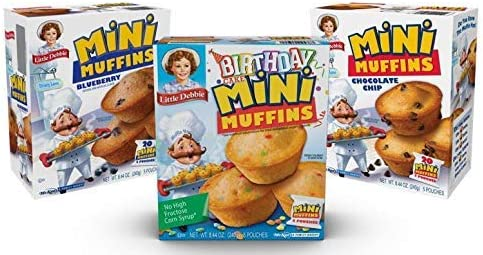 Little Debbie Mini Muffin Variety Pack Birthday Cake Blueberry Chocolate Chip 1 Box Each product image