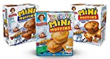 Little Debbie Mini Muffin Variety Pack, Birthday Cake, Blueberry, Chocolate Chip (1 Box Each)