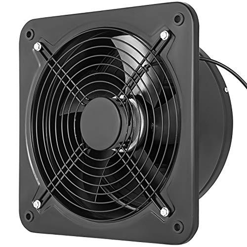 Extractor de Aire de 300 mm, Extractor de Baño de Metal Completo 220 V, Ventilador de Escape con Volumen de Aire 2850 m³/h 2800 RPM, Extracción Aire Ruido 50-60 dB Para Cocina Baño