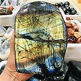 ABCBCA Cristal Natural Cristal MONTAÑA Raw Piedra de Piedras Preciosas Ornamento de Cuarzo Pulido Labradorita Dedicraft Decoración de Piedra (Size : 800 900g)