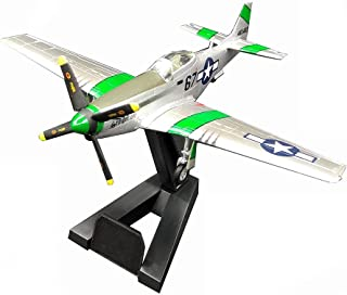 1/72 Scale Fighter Plastic Model, P51D Mustang Fighter Adult Collectibles And Gifts, 6Inch X5.4Inch