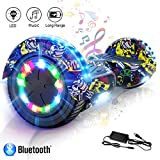 COLORWAY Hoverboard Elettrico App Scooter a 8 Pollici con Bluetooth & LED Auto Balance E-Skateboard