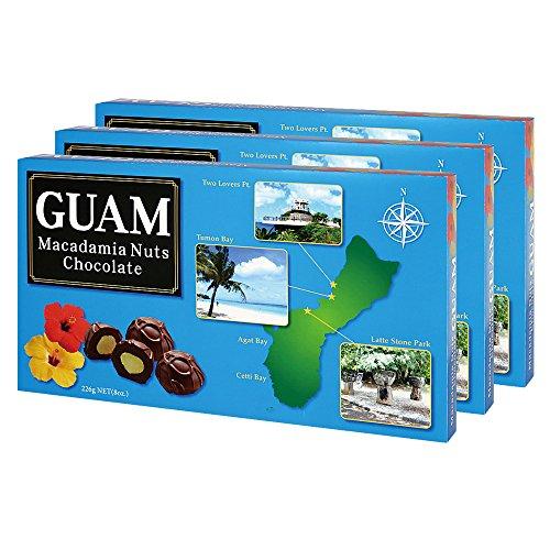 グアムお土産 グアム マカデミアナッツチョコレート 3箱セット