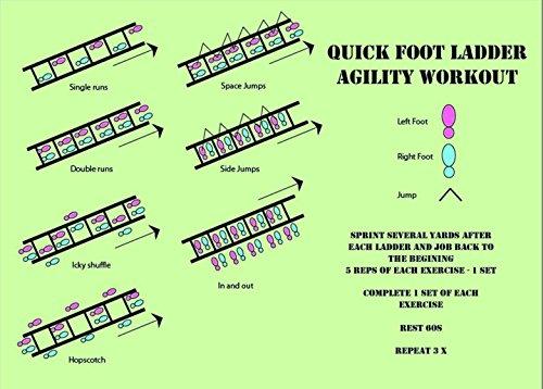 Pepup Unisex's Super Flat 12 Rungs Adjustable Speed Agility Ladder-Yellow, 6 m