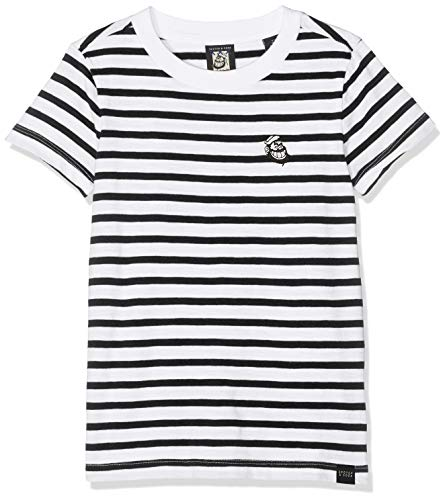 Scotch & Soda R´Belle Brutus AMS Blauw Colab Stripe tee with Chest Embroidery Camiseta, (Combo A 21), 116 (Talla del Fabricante: 6) para Niñas