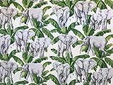 Stoffeldorado - Meterware Dekostoff Elefanten Palmen 280 cm