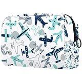 Bolso cosmético portátil del viaje del bolso del almacenamiento multifuncional de la señora del bolso cosmético, patrón abstracto de los ti