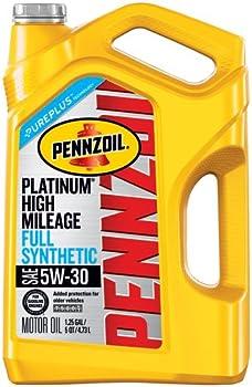 Pennzoil Platinum High Mileage 5W-30 Full Synthetic Motor Oil (5 Quart)