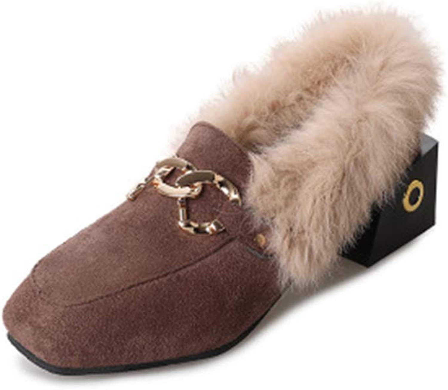 Cloudless Womens Suede Bow Faux Fur Lined Fluffy Comfy Slip On shoes