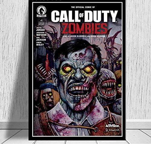 ZzSTX Carteles E Impresiones De Lienzo Call Duty Black Ops Zombies Póster De Juego Cuadro De Arte De Pared Lienzo Pintura Decoración Moderna 50X70Cm Sin Marco